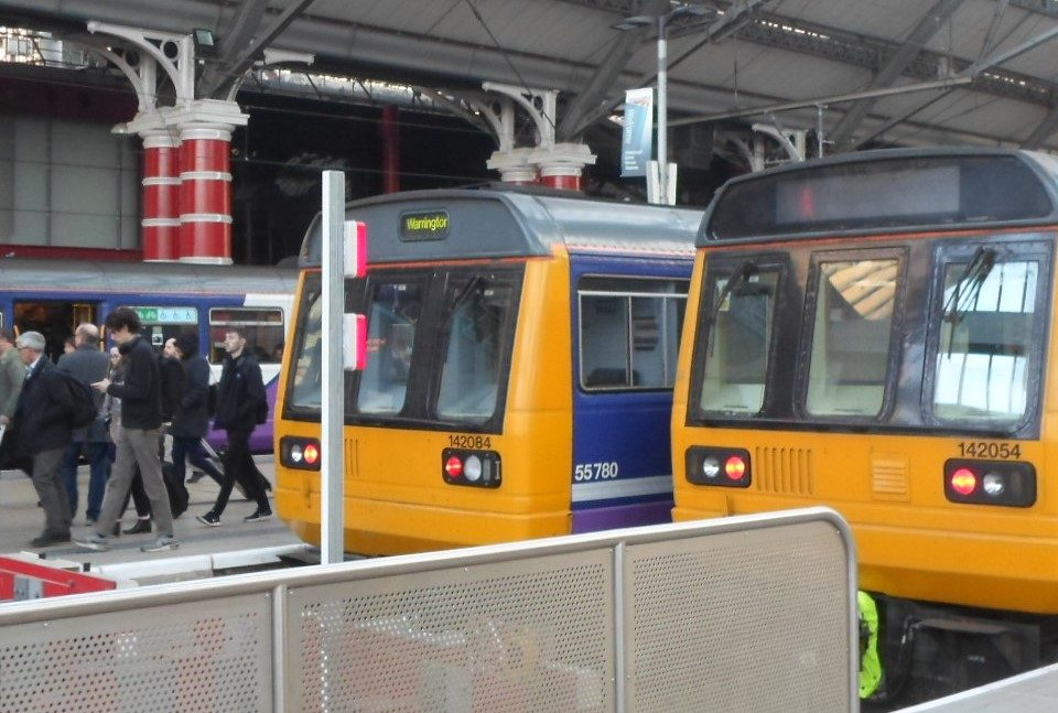 Class 142s at Liverpool