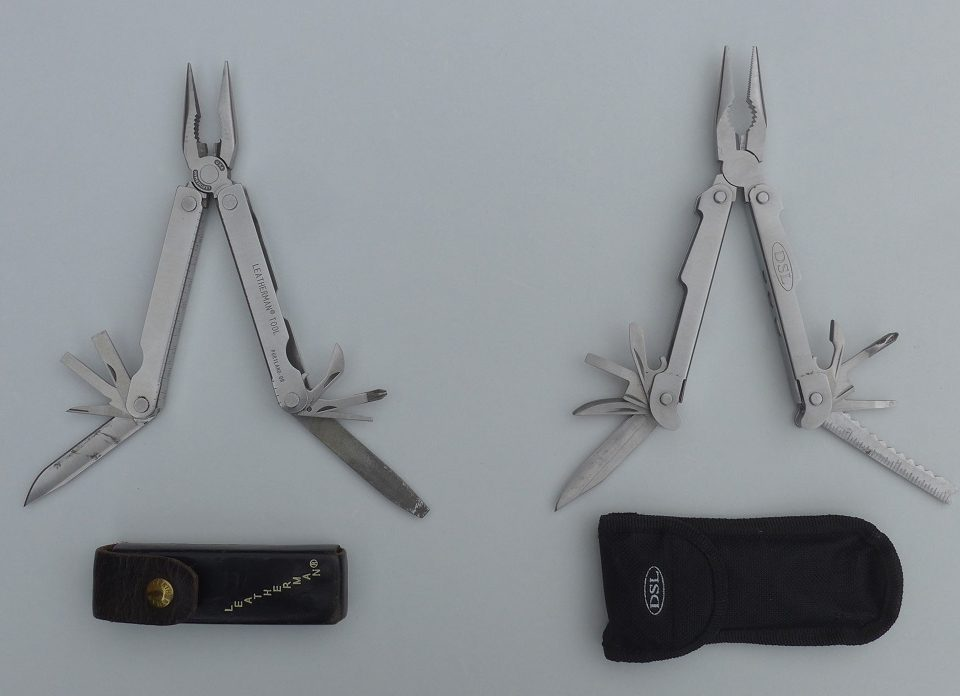Photo Leatherman and DSL multi-tool